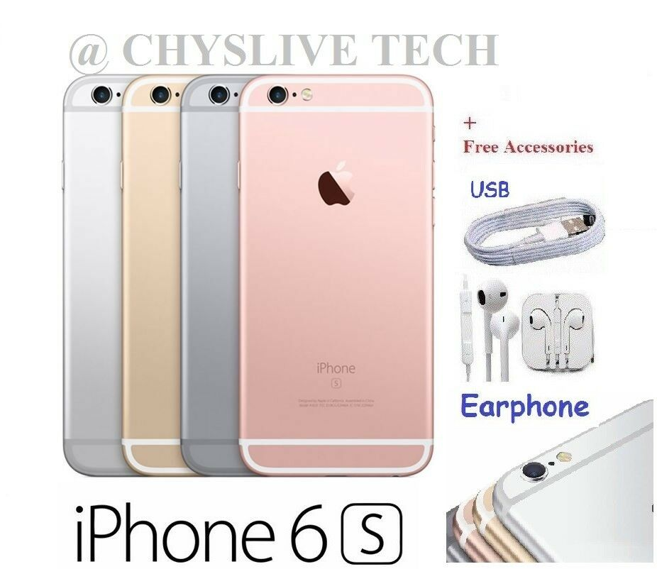 Apple Iphone 6s 16gb 64gb 128gb Unlocked Smartphone Gold Grey Silver 1 Of 1free Shipping See More