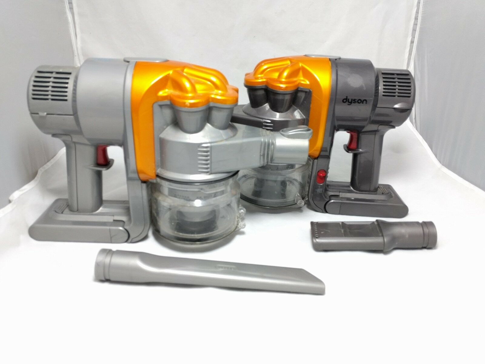 dyson dc16 animal lot of two with 2 attachments for parts main units