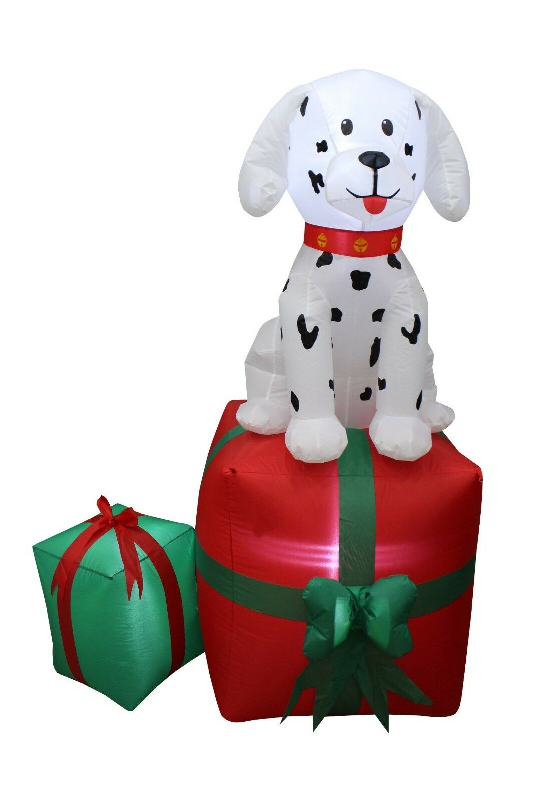 5 FOOT TALL Christmas LED Inflatable Dalmatian Puppy Dog Present ...