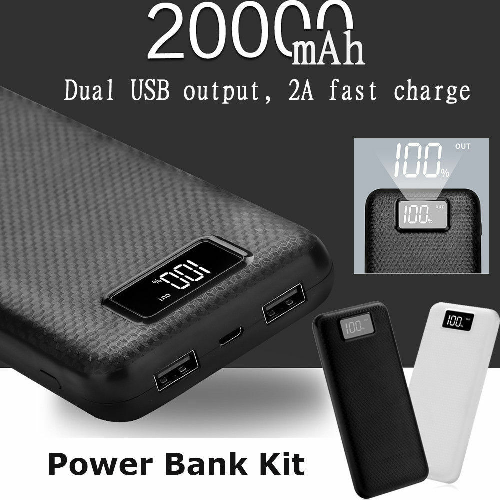 Dc 5v 2a Dual Usb 2 Port Battery Charger Box 8x 18650 Diy Kit Power How To Build Powered Mobile Phone Bank 1 Of 12only Available See More