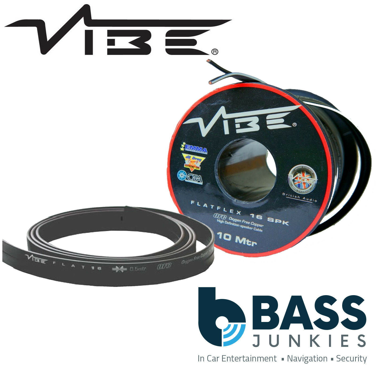 Vibe Flatflex 16 Gauge Awg 10m Metre Flat Ofc Car Home Speaker Wiring 1 Of 1free Shipping