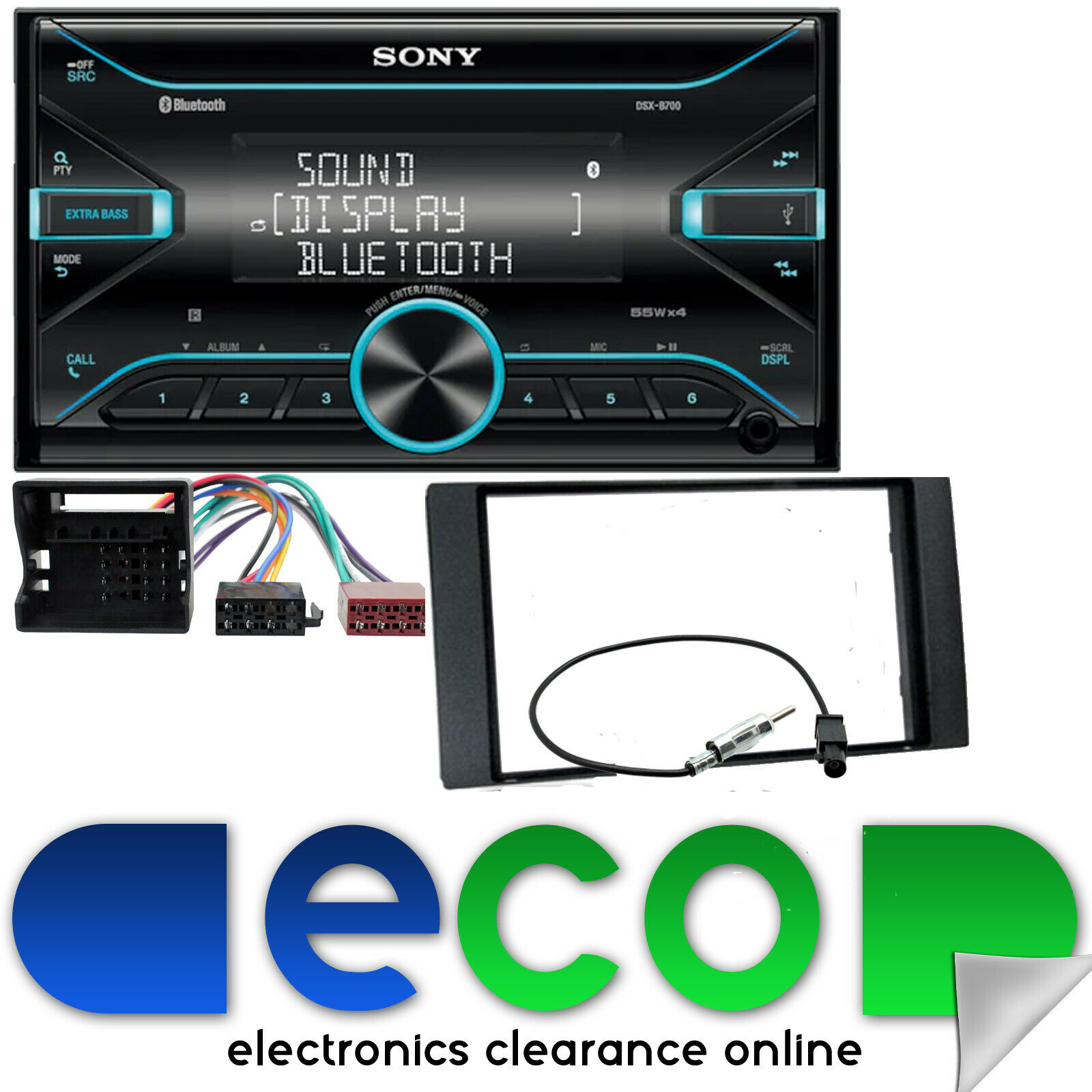Ford Focus Mk2 Sony Double Din Bluetooth Cd Mp3 Usb Car Stereo Wiring Harness Kits 1 Of 2free Shipping