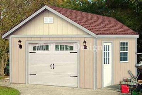 16 X 20 Garage Yard Storgae Gable Shed Plans 51620