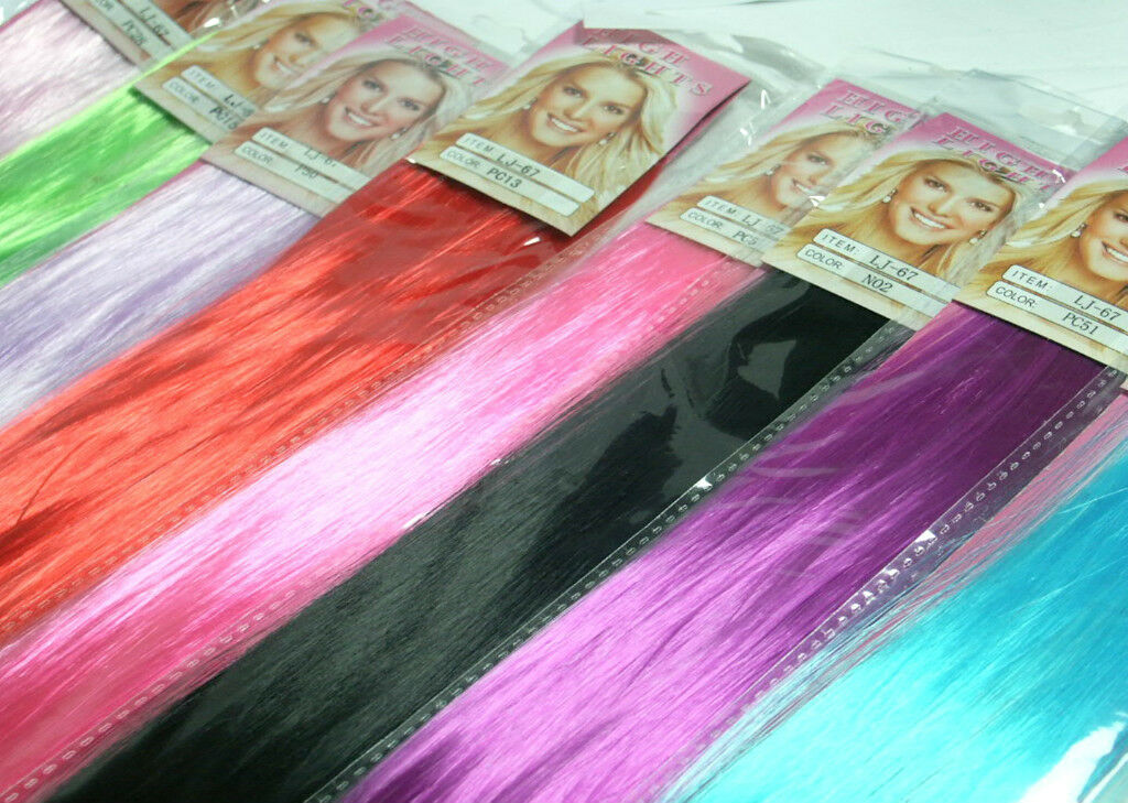 Hot Bright Funky Colours Clip In Hair Extensions 20fashion Hair