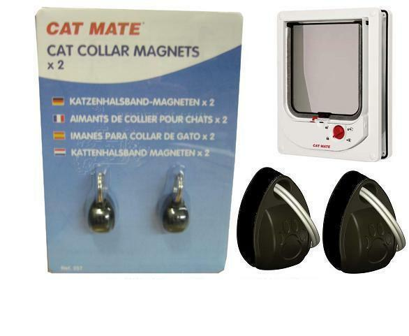 257 Pet Mate Electro Magnetic Cat Flap Spare Collar Magnets Dog Door