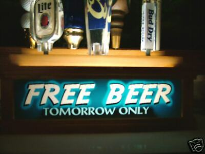 Lighted FREE BEER 7 tap handle kegerator display