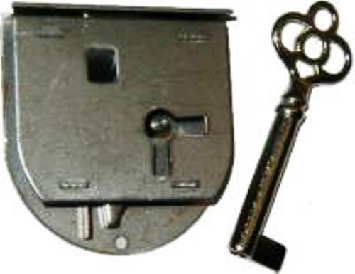 """L-40L ROUNDED HALF MORTISE LOCK & KEY FOR LEFT HAND DOORS 1-3/4"""" W x 1-7/8""""H"""