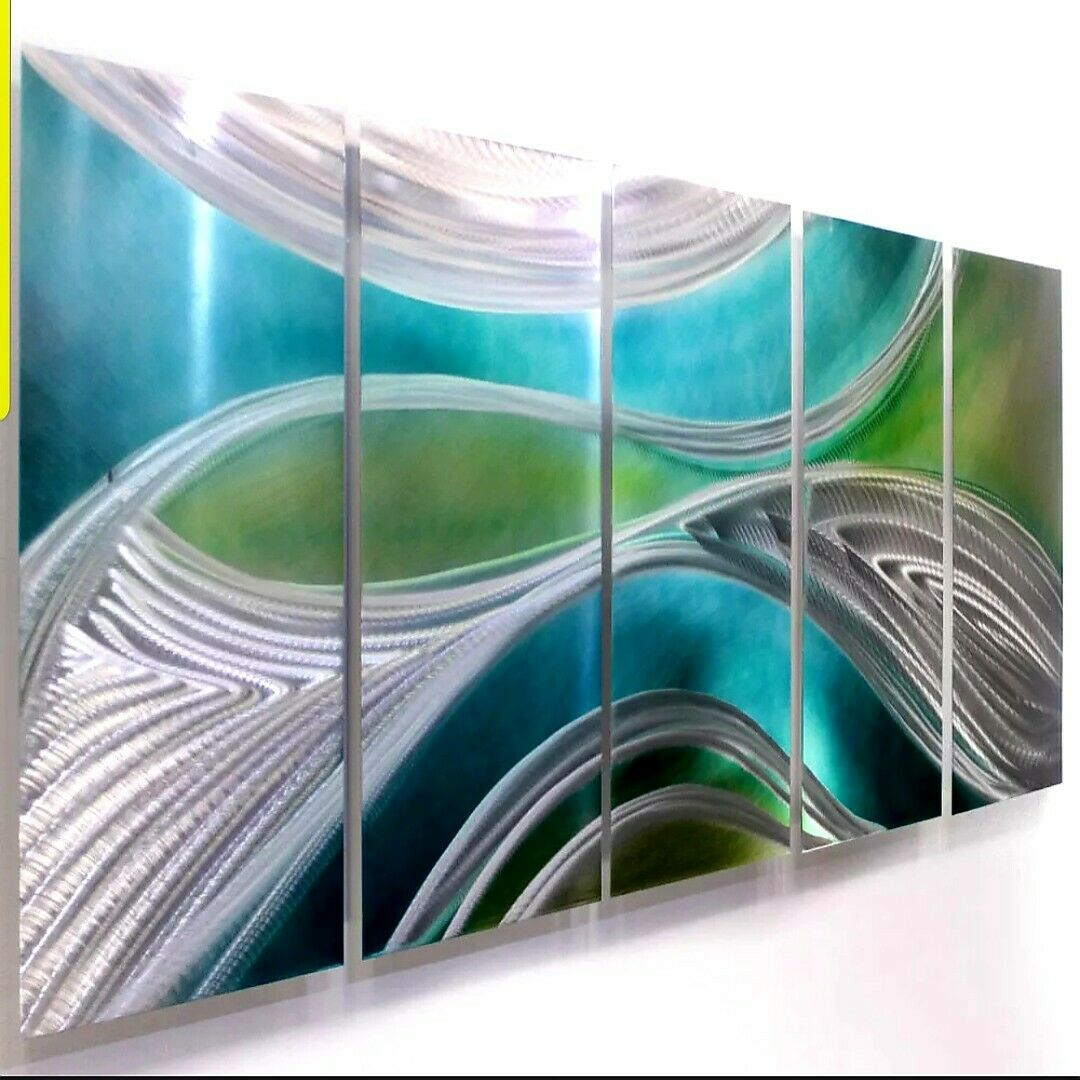 Modern metal abstract wall art painting sculpture decor for Abstract decoration