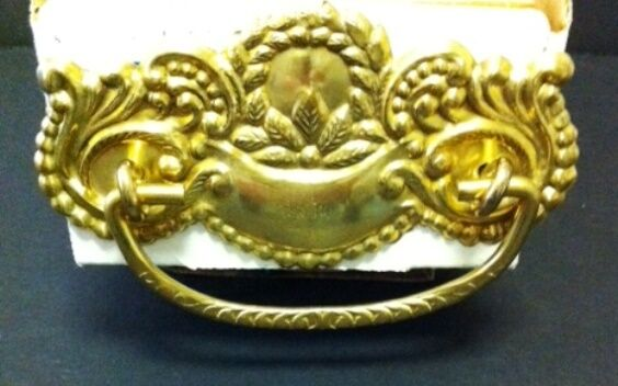 P-26 Victorian Stamped Brass Drawer Pull