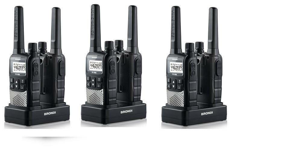 walkie talkie ricetrasmittenti brondi portata 12 km con. Black Bedroom Furniture Sets. Home Design Ideas