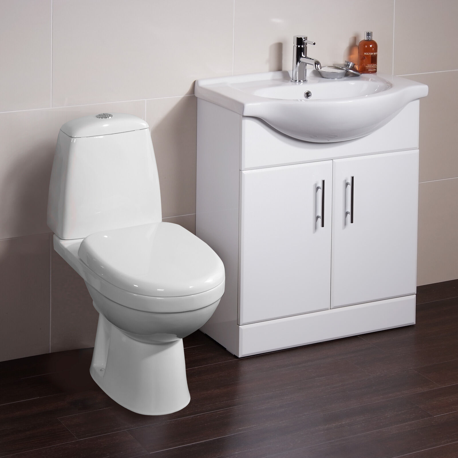 Toilet basin sink vanity unit bathroom cabinet furniture for Bathroom furniture drawers