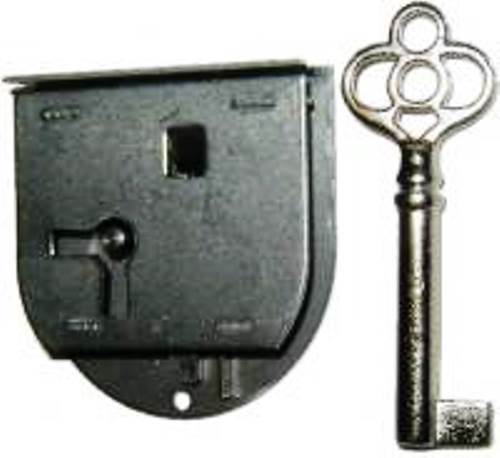 """L-40R Rounded Half Mortise Lock & Key For Right Hand Doors,1-3/4"""" Wide X 1-7/8""""h"""