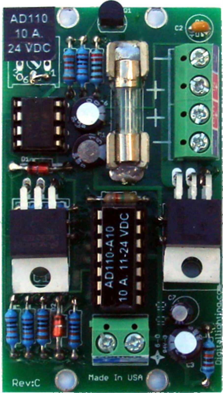 Ad110 A10 Led Dimmer Pwm 10 A12vdc 24 Vdc Pot Or 0 10v Control 010v Connection Diagram 1 Of 1only 5 Available
