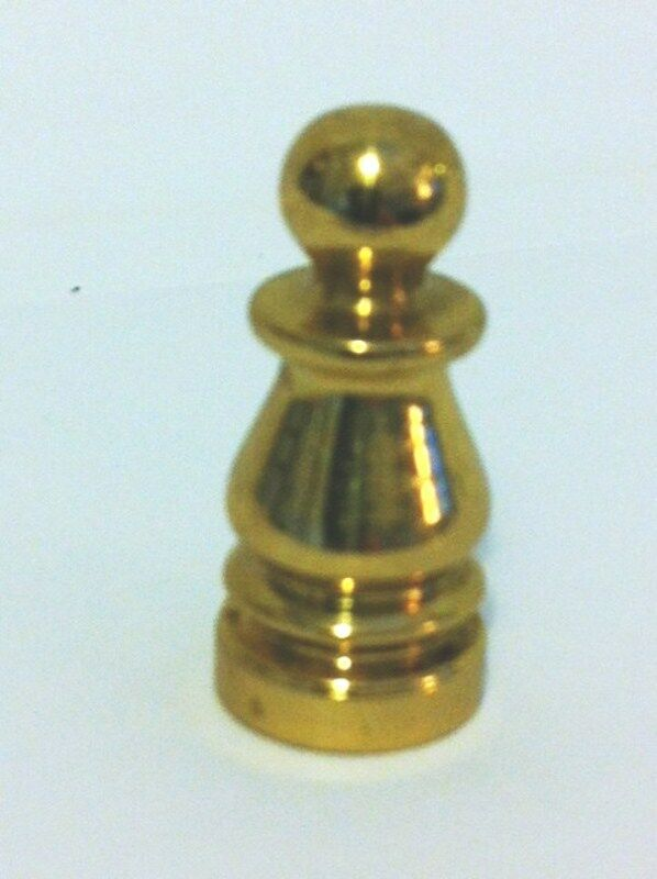 "10967 - 1"" Solid Brass Colonial Finial 1/4-27F Base"