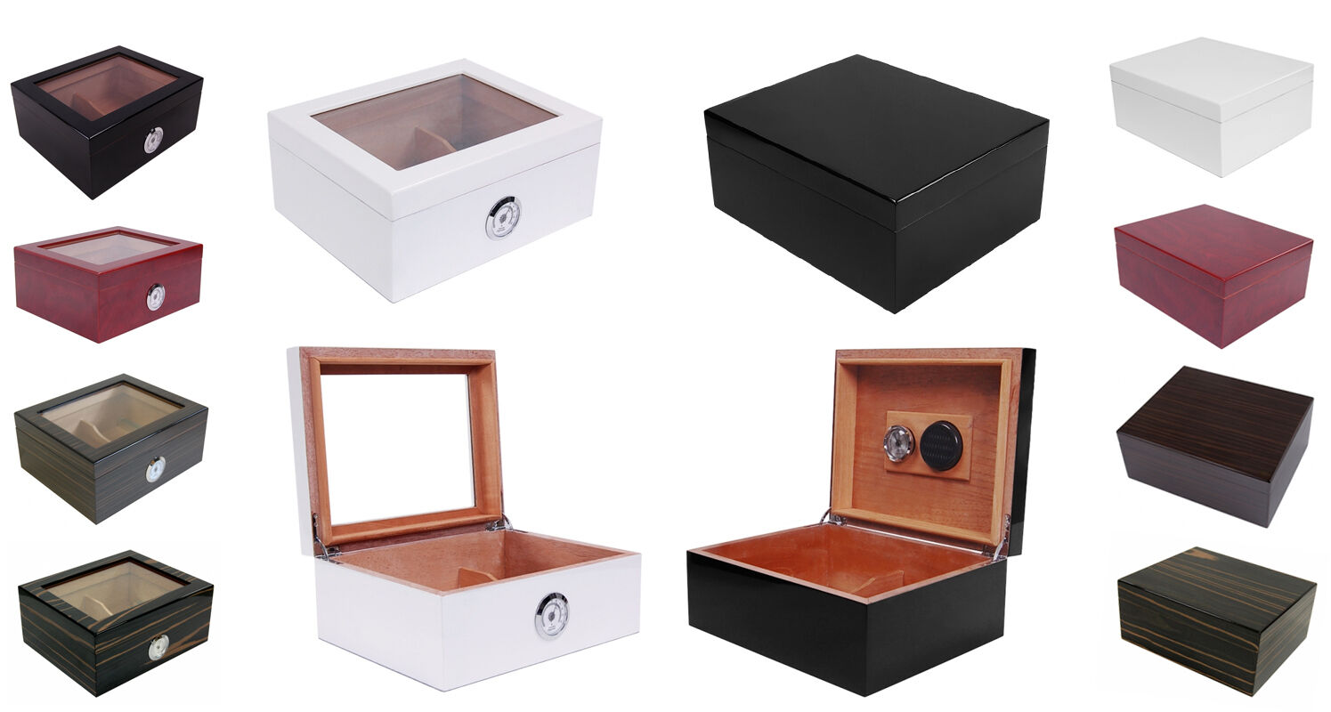 cave a cigare humidor 50 cigares santiago ou glass top. Black Bedroom Furniture Sets. Home Design Ideas