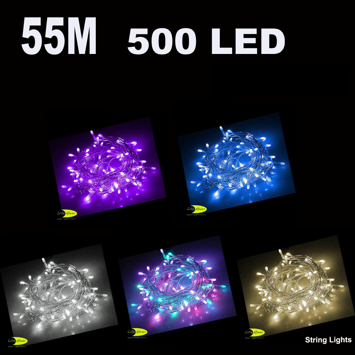 55m 500 LED 24 Volt Christmas Party Wedding Fairy String Light Rope Lights AUD 45.95 - PicClick AU