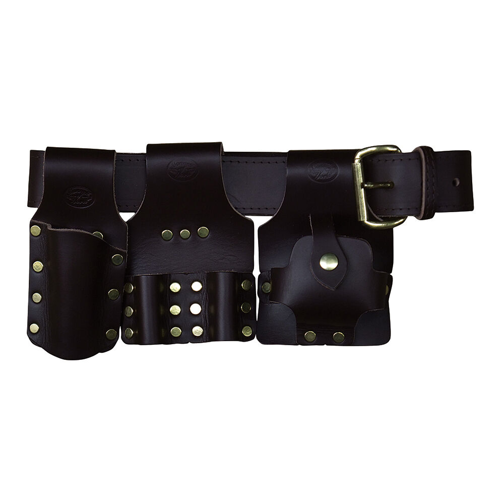 deluxe scaffold tool belt set brown leather connel of
