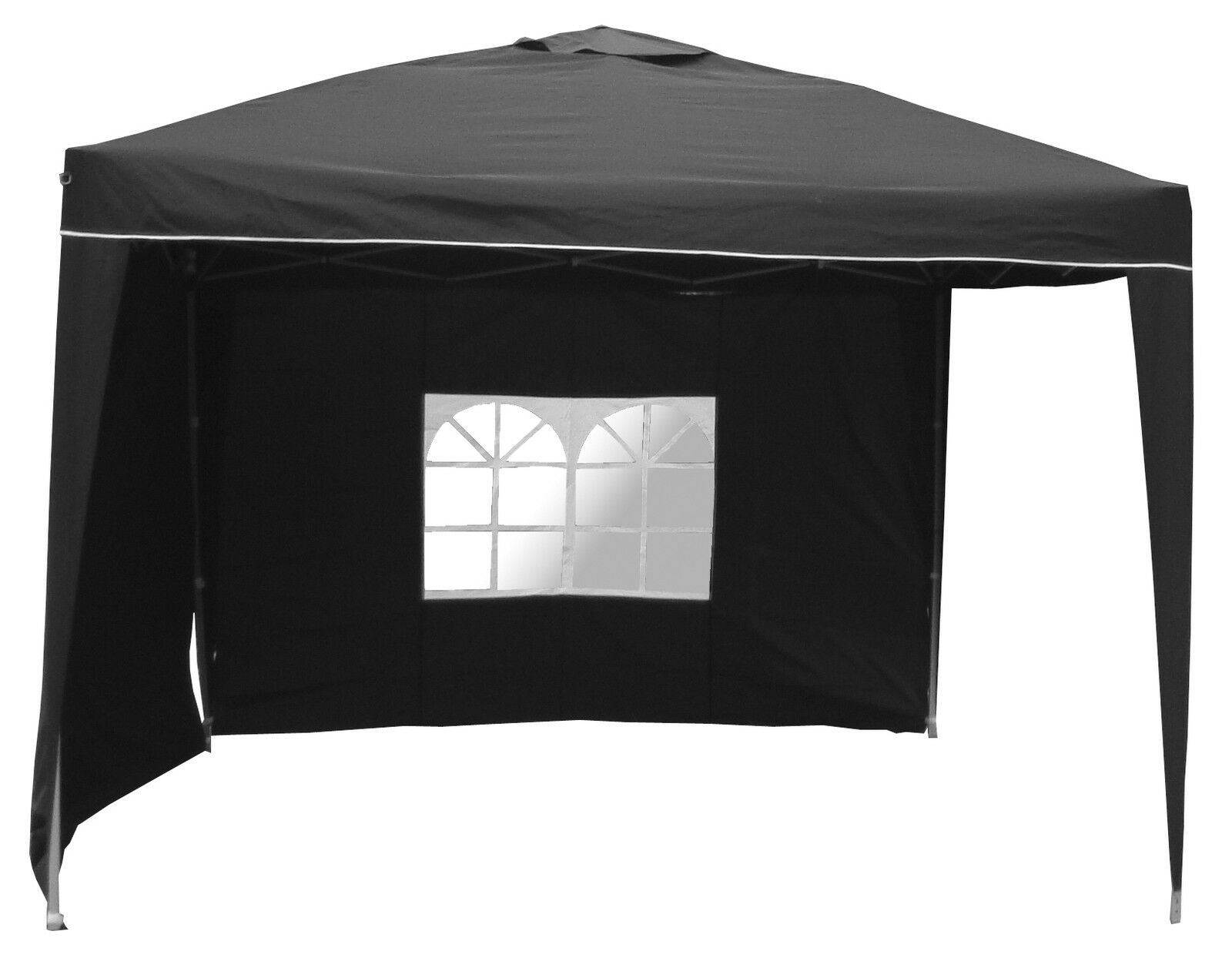 faltpavillon wasserdicht alu pavillon schwarz 3x3 gartenpavillon 2 seitenteile eur 89 99. Black Bedroom Furniture Sets. Home Design Ideas