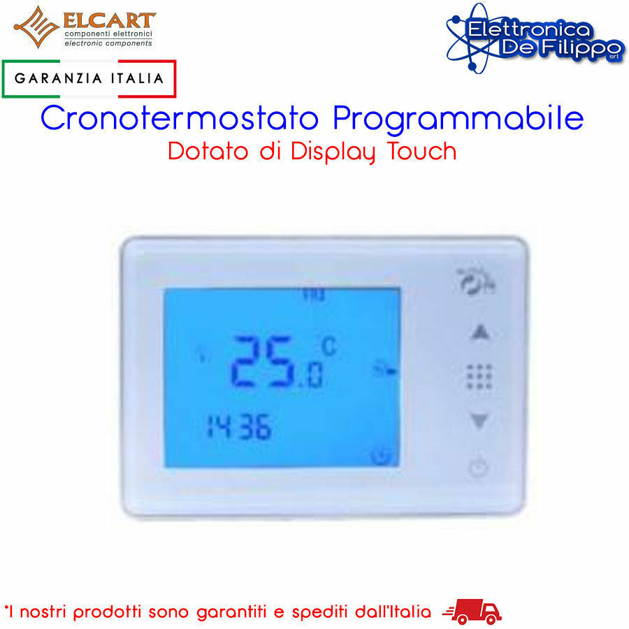 Cronotermostato digitale programmabile touch screen for Programmazione termostato gbc