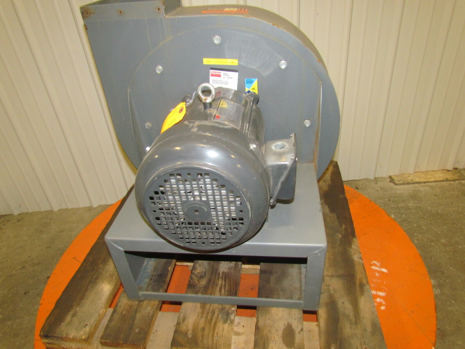 Dayton Industrial Fans And Blowers : Dayton c hp blower ventilador quot wheel dia ph
