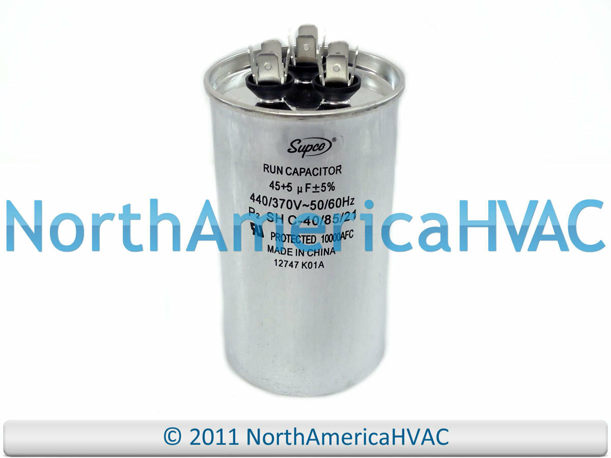 New Motor Round Dual Run Capacitor 45 5 Mfd 370 440 Volt Supco 40 Ac Wiring Diagram 1 Of 1free Shipping