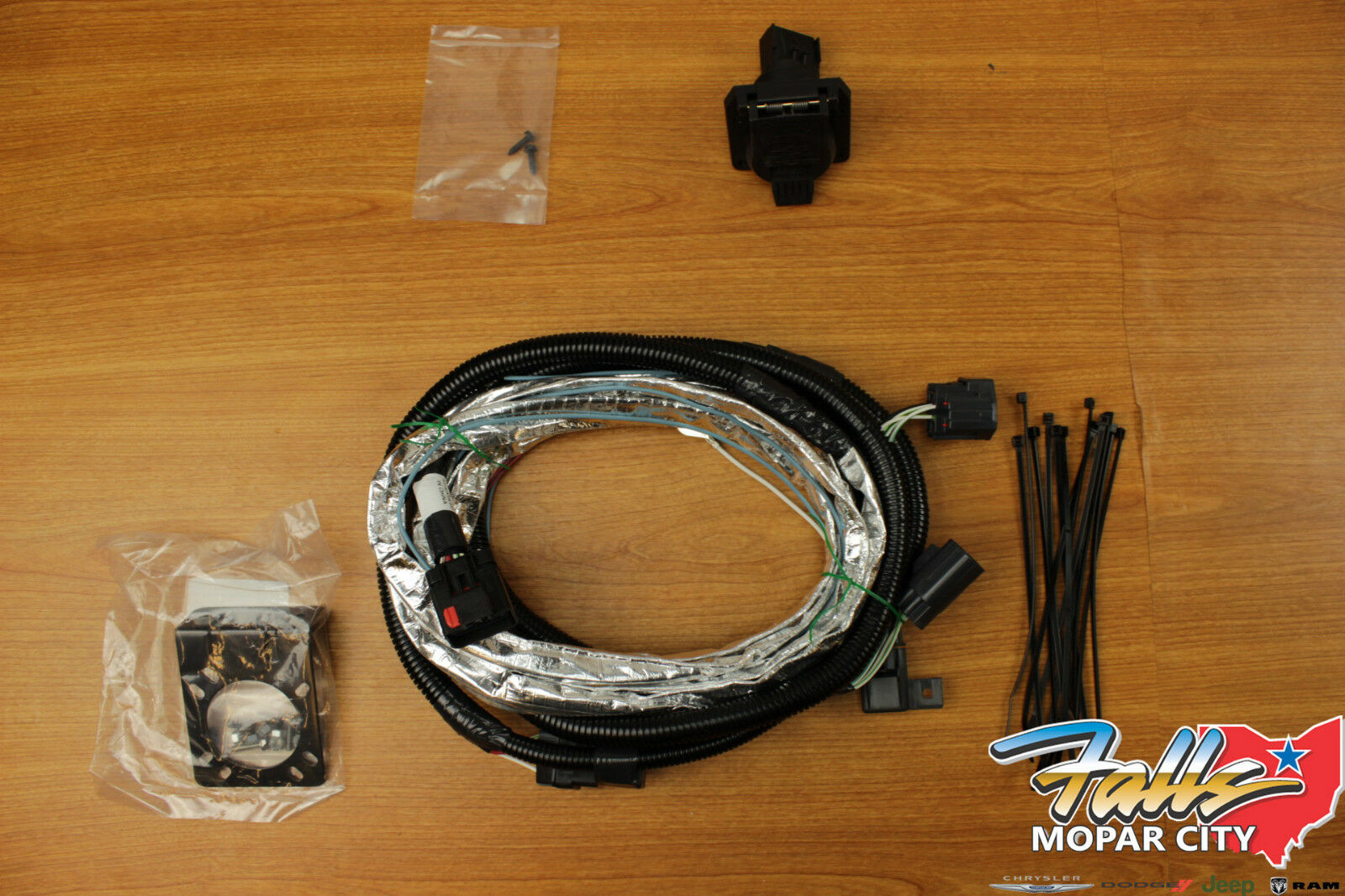 2007-2018 Jeep Wrangler JK 7-Way Trailer Tow Hitch Wiring Harness Mopar OEM  1 of 12FREE Shipping See More