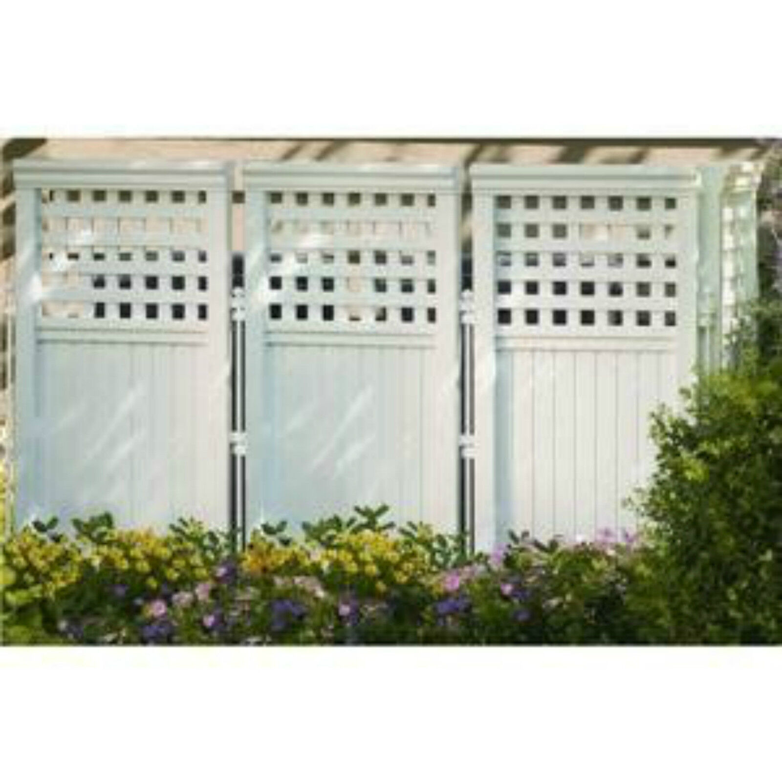 Suncast 4 Panel Resin Wicker Outdoor Screen Privacy