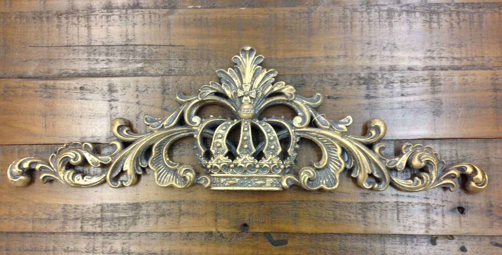 Italian gold princess crown scrolling wall decor hanging for Victorian wall decor