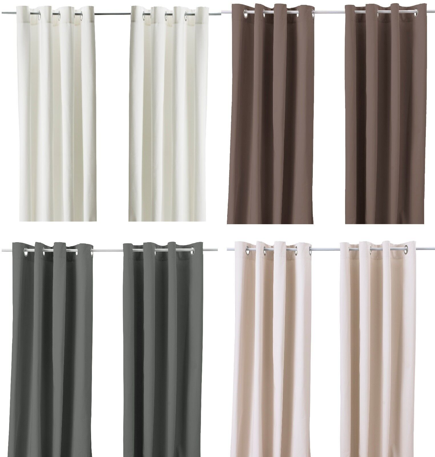 Ikea merete pair of curtains 2 panels brown purple beige Beige curtains