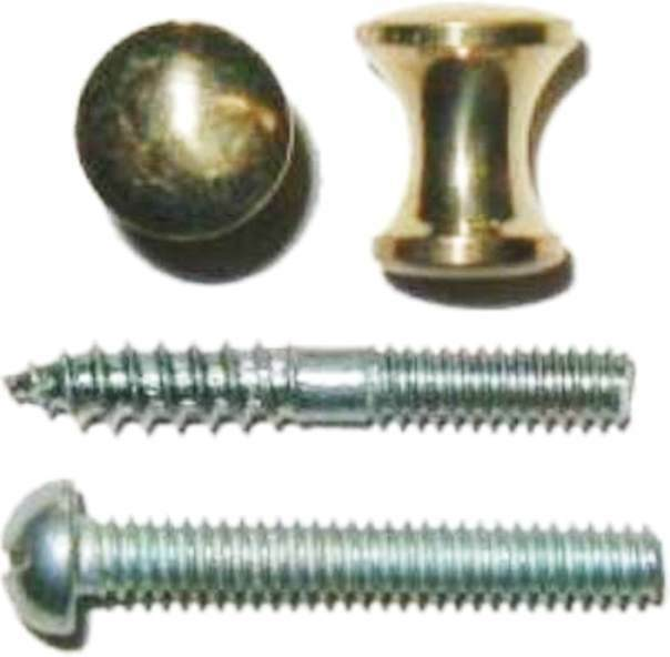 "Small Solid Brass Knob 3/8"" Diameter, K-3A - B-309"