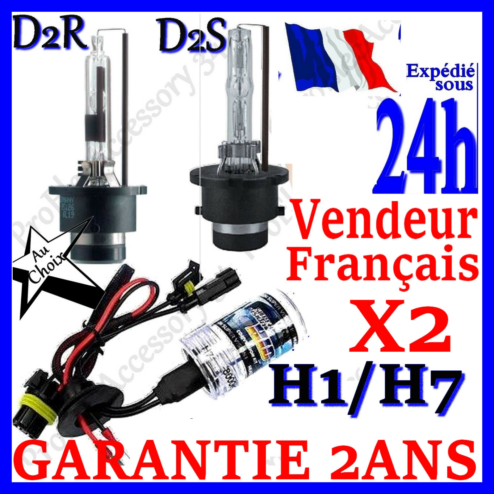 paire 2 ampoule lampe feux remplacement pour kit xenon hid h1 h7 d2s d2r 35w 55w eur 14 98. Black Bedroom Furniture Sets. Home Design Ideas