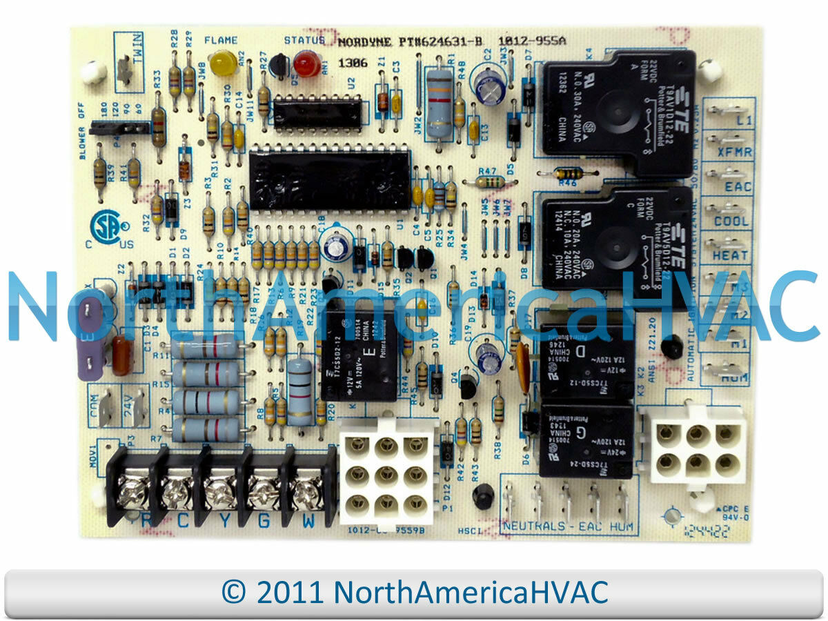 Oem Intertherm Miller Nordyne Control Circuit Board 624591 624631 Wiring Diagrams 1 Of 1free Shipping
