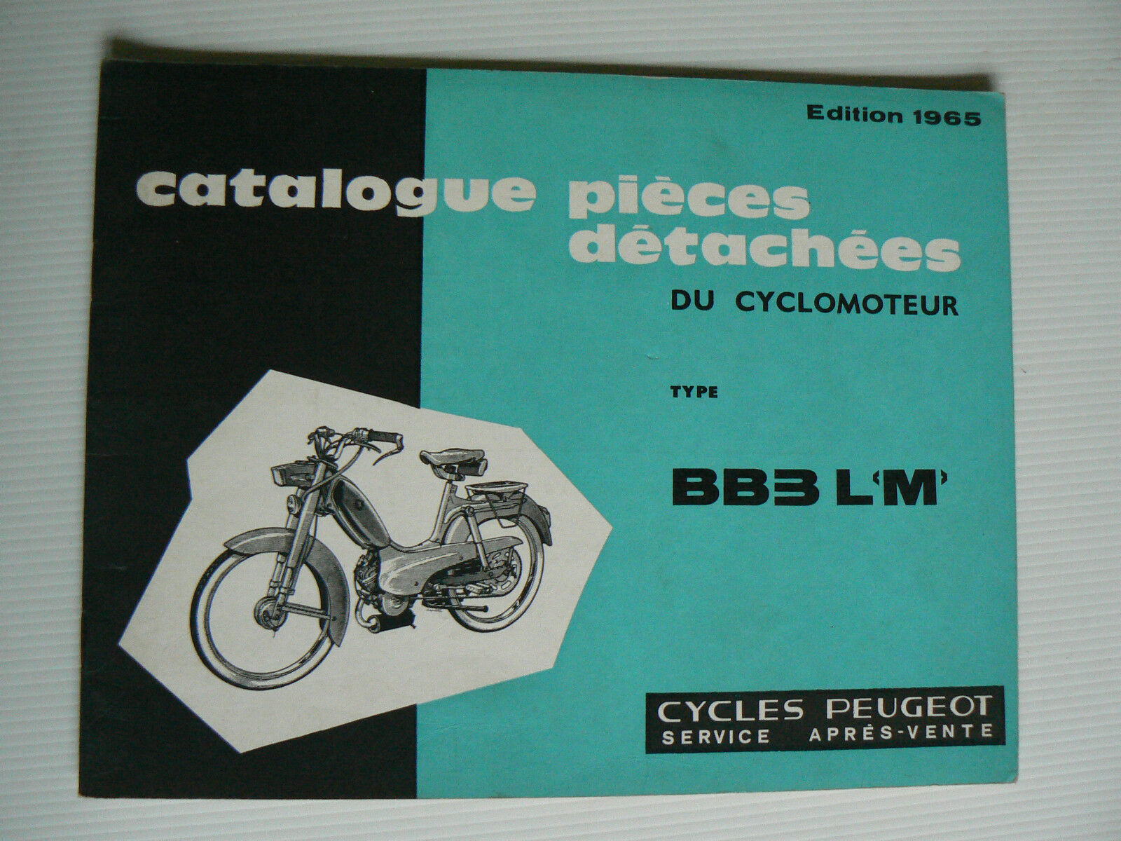 catalogue pieces detachees cyclomoteur peugeot bb 3 lm de 1965 eur 16 00 picclick fr. Black Bedroom Furniture Sets. Home Design Ideas