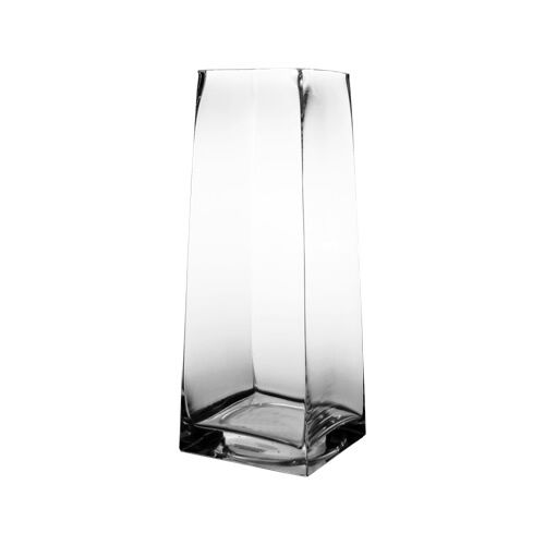 Square Vase Tapered Up Glass Vases Wholesale Lot Of 6 Pcs H 135