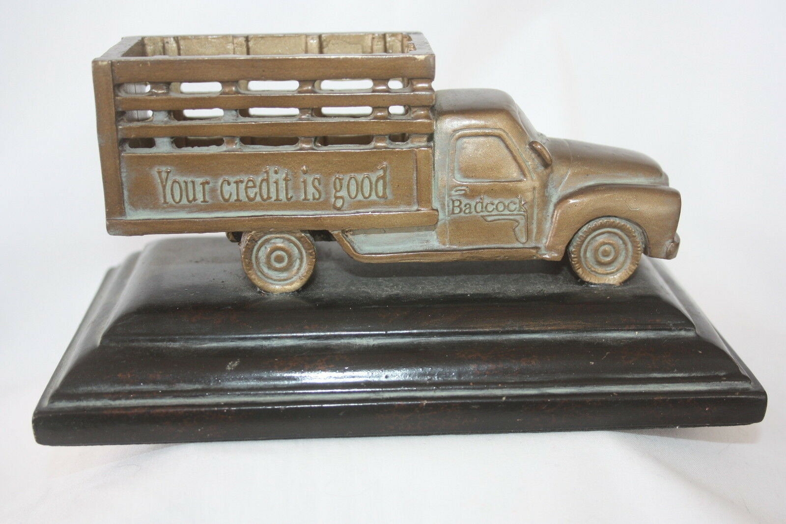 Badcock furniture delivery truck 100th anniversary bronze for Furniture 7 day delivery