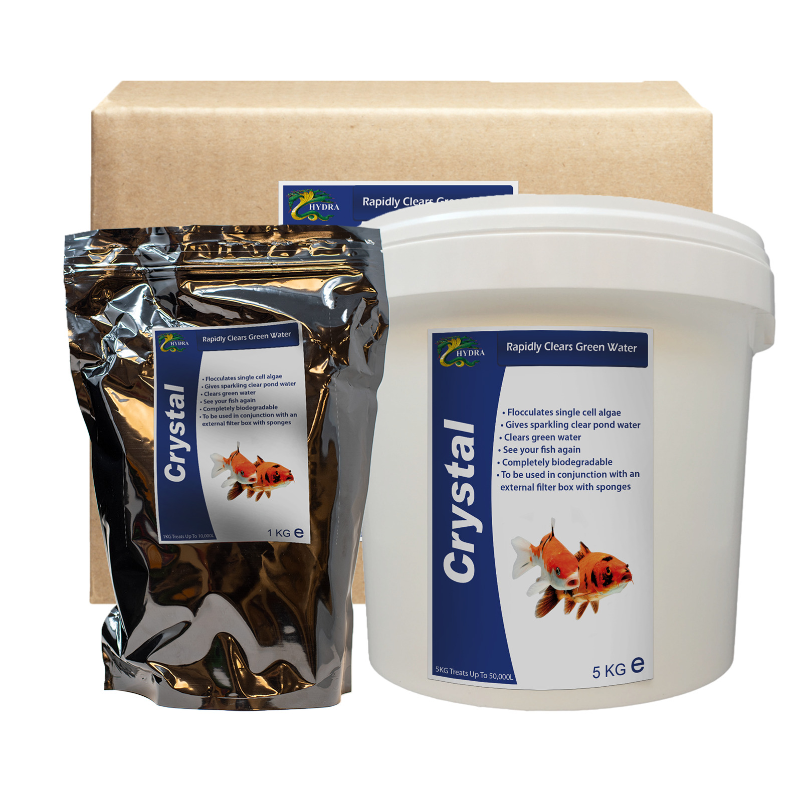 Hydra crystal green pond water treatment picclick uk for Green pond water