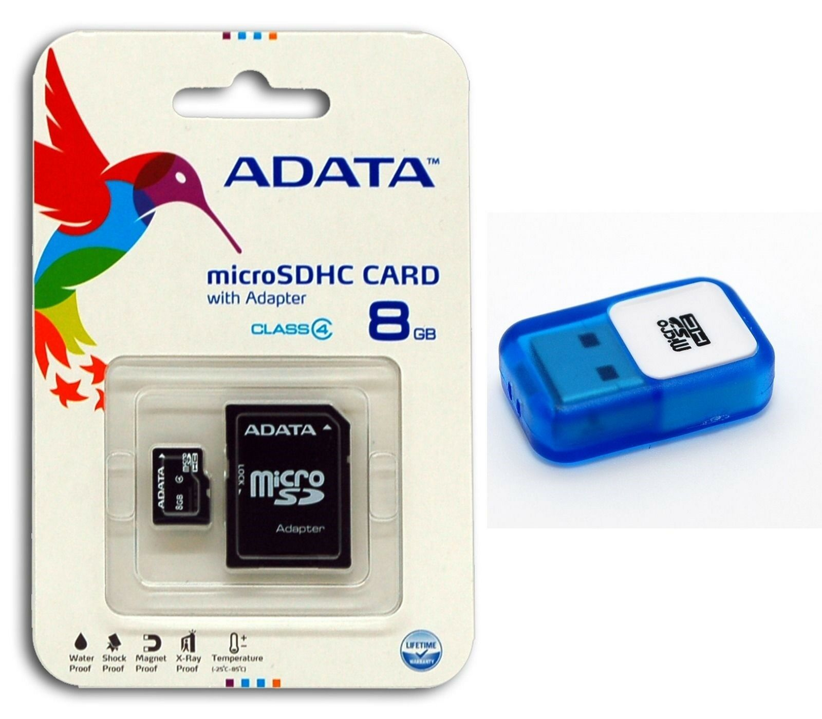Adata 8gb Class 4 Micro Sd Sdhc Tf Flash Memory Card With Usb Microsd Sandisk 1 Of 5free Shipping