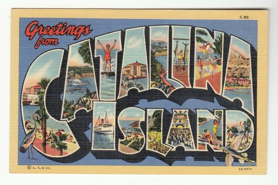 46665 old large letter postcard greetings from catalina island 46665 old large letter postcard greetings from catalina island california 1 of 1only 1 available see more m4hsunfo