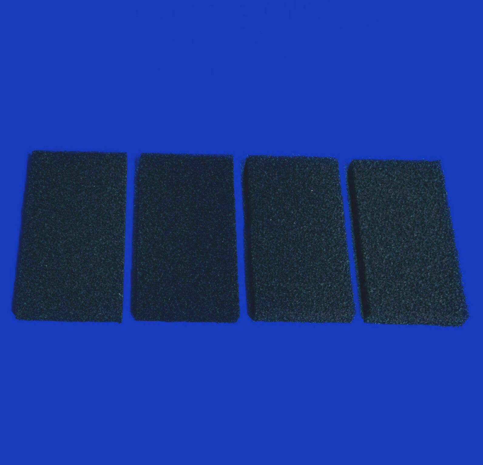 4 x COMPATIBLE INTERPET PF3 CARBON FOAM REPLACEMENTS POWER FILTER FISH TANK