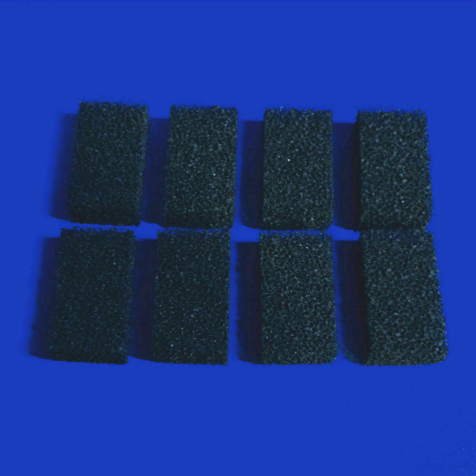 8 x COMPATIBLE INTERPET PF MINI CARBON FOAM REPLACEMENTS POWER FILTER FISH TANK