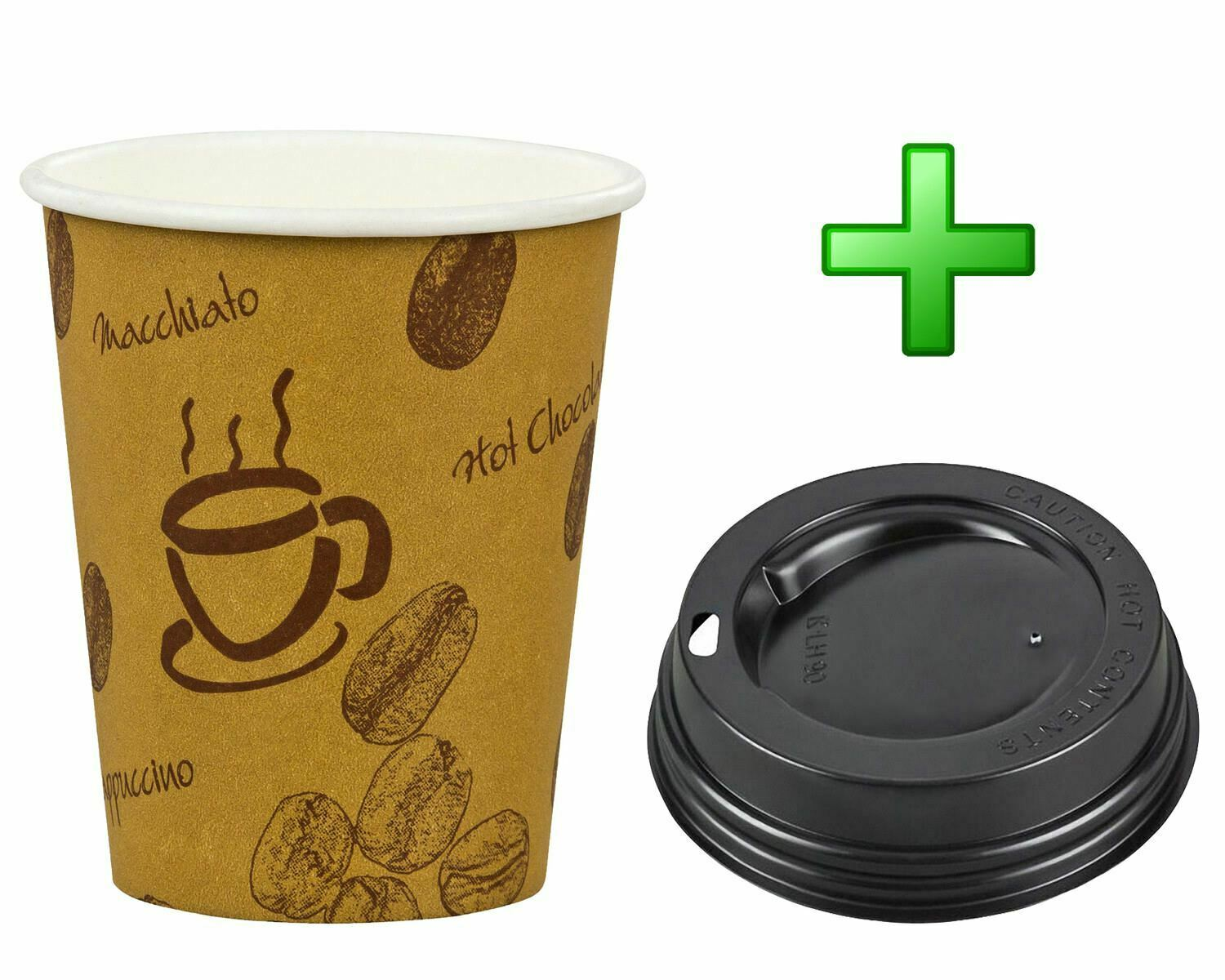 kaffeebecher premium coffee to go mit deckel pappbecher beschichtet 300 ml eur 11 80 picclick de. Black Bedroom Furniture Sets. Home Design Ideas