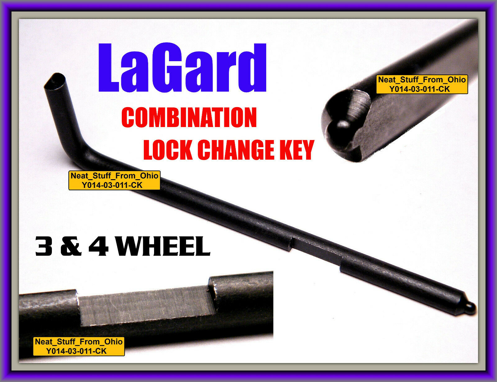 La Gard Lagard Change Key For 3 4 Wheel Combination Locks