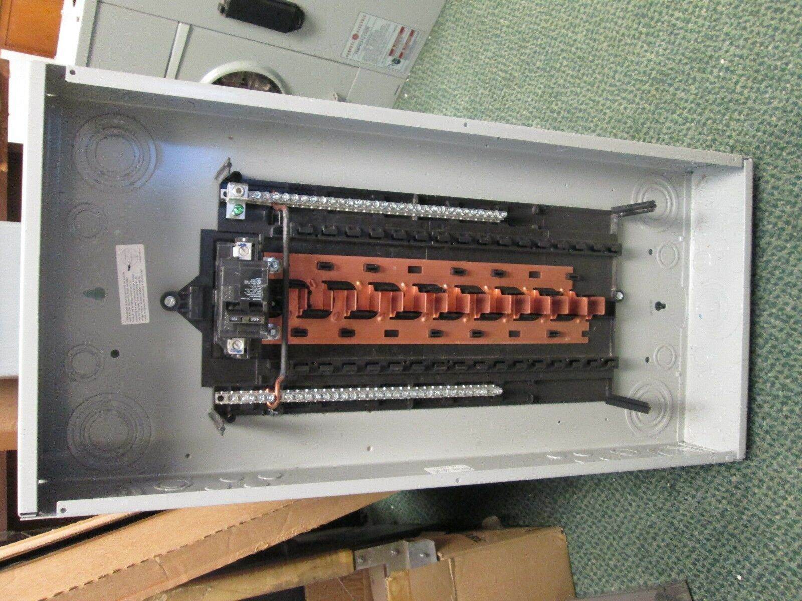 Siemens Main Circuit Breaker Panel 100a 120 240v 1ph 3w New Diagram Of Pushmatic Wiring Surplus 1 4only Available