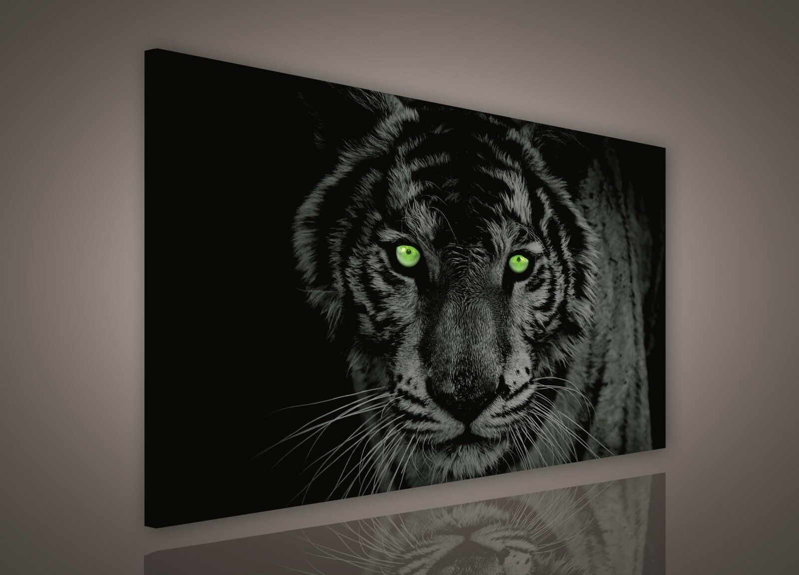 leinwand bild wandbild bilder pp130bo1 tiger schwarz wei tiere 100x75cm eur 24 00 picclick de. Black Bedroom Furniture Sets. Home Design Ideas