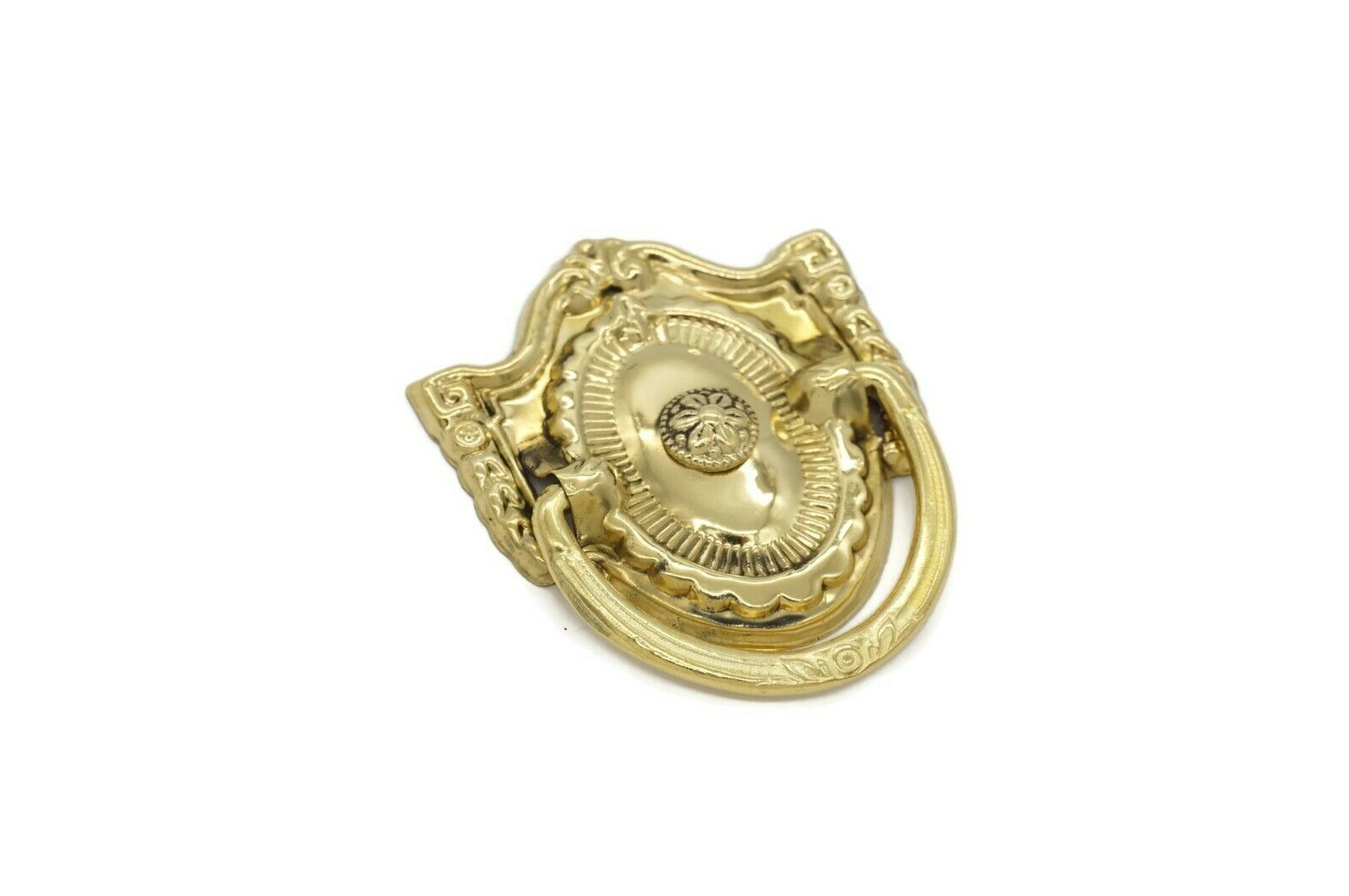 Antique Style Victorian Drawer Ring Pull, Ring Pull Single Post Solid Brass
