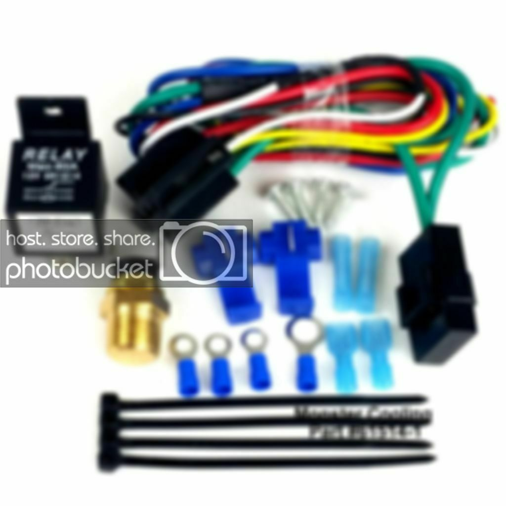 Jeep Willys Fan Relay Wiring Kit Works On Single Or Dual Fans Sensor 1 Of 4only Available