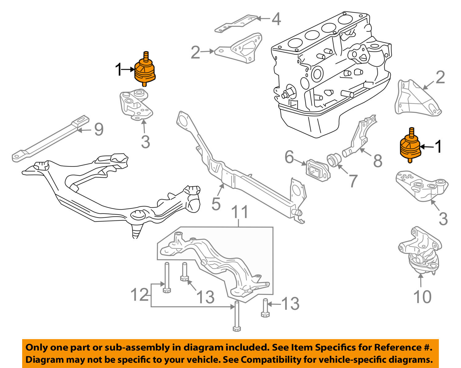 Audi Oem 05 08 A4 Quattro Engine Torque Strut Mount Right Side 2006 2 0t Diagram 1 Of 2only Available