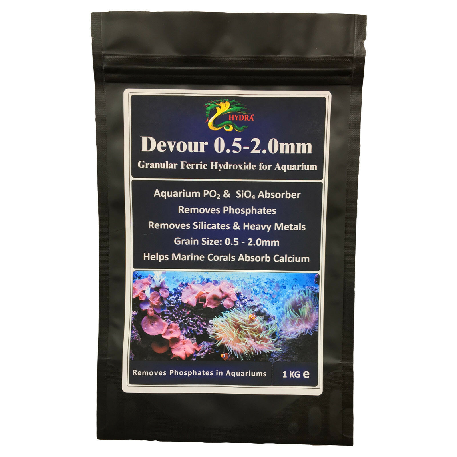 Effective Granulate Aquarium Phosphate & Silicate Remover/ Absorber HYDRA DEVOUR