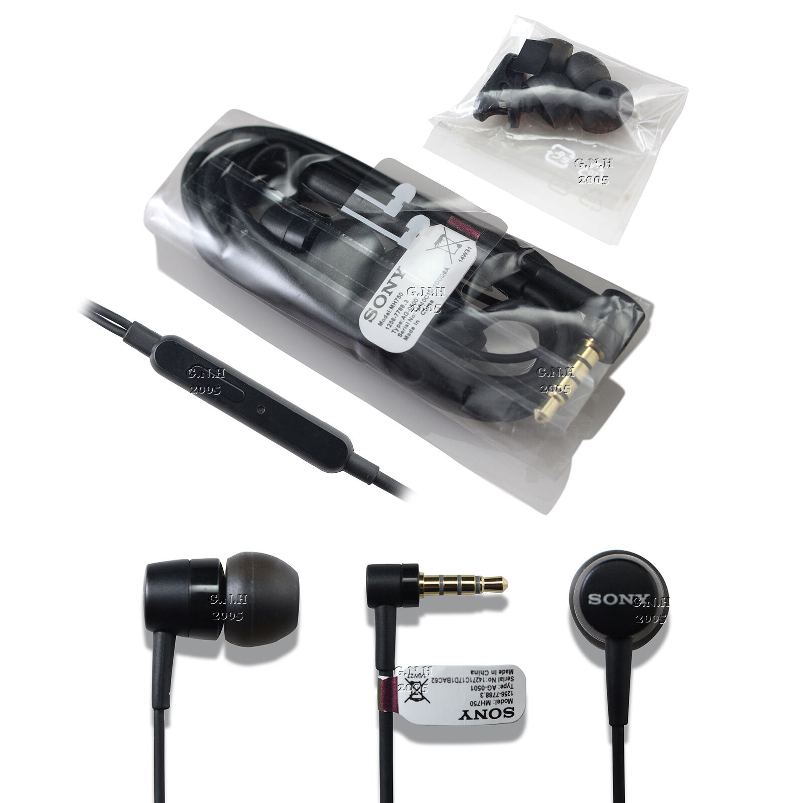 Genuine Sony Mh 750 Earphones Headphones Xperia Z Z2 Z3 Iphone 5s 6 Headset Mh750 1 Of 3free Shipping