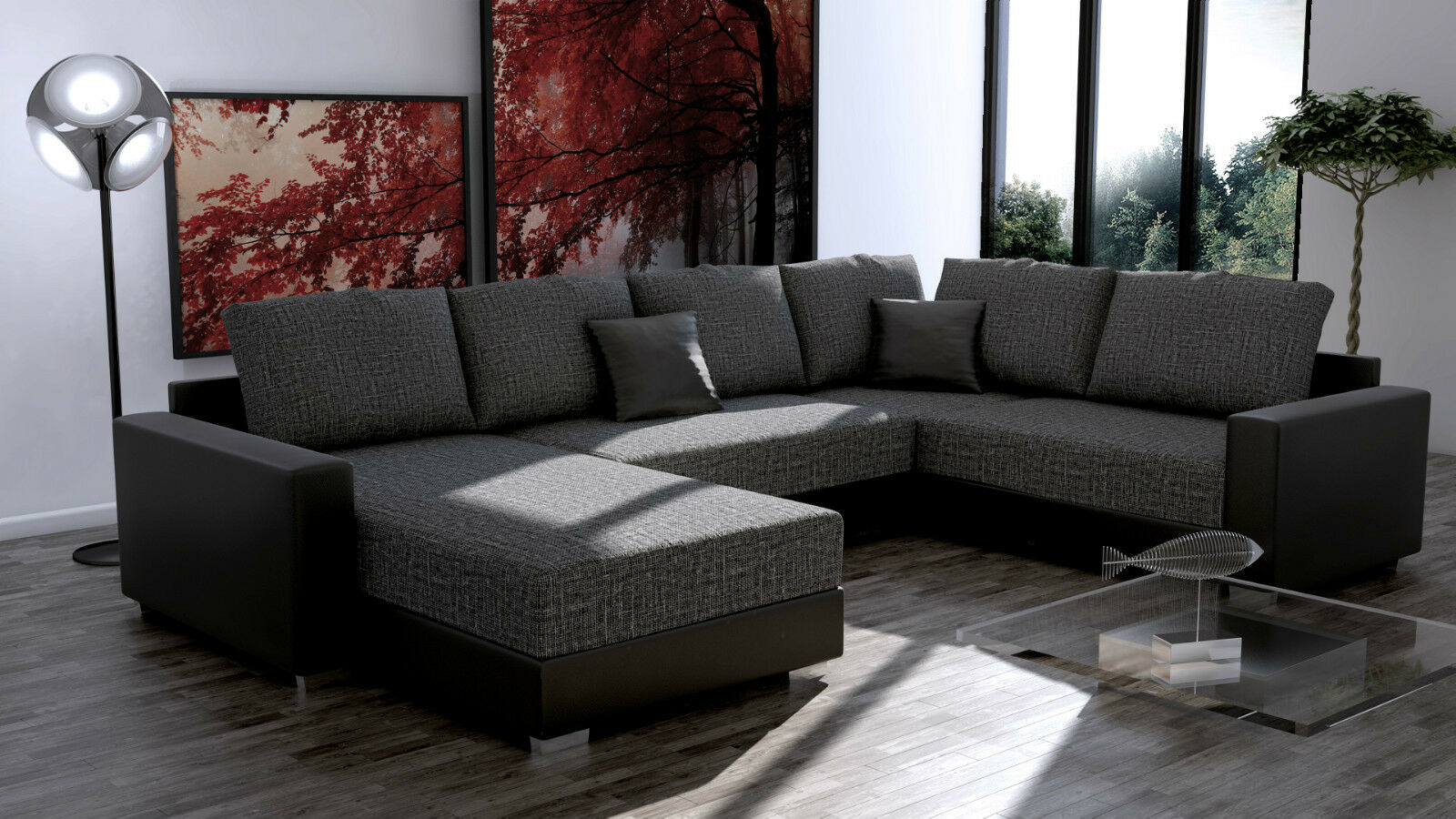 Couch garnitur ecksofa sofagarnitur sofa sty 3 1 for Yatego wohnlandschaft